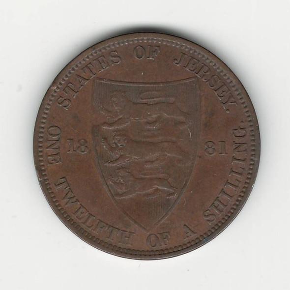 Jersey: 1881 1/12 Shilling
