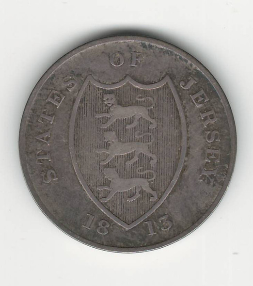 Jersey: 1881 18 Pence Token