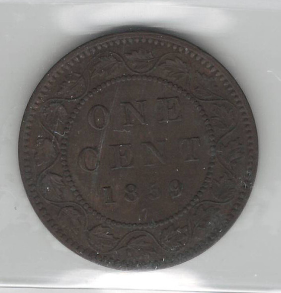 Canada: 1859 Large Cent DP N9 #1 ICCS VF30