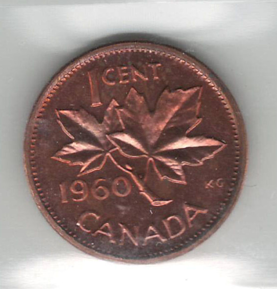 Canada: 1960 1 Cent ICCS PL66 Cameo Red