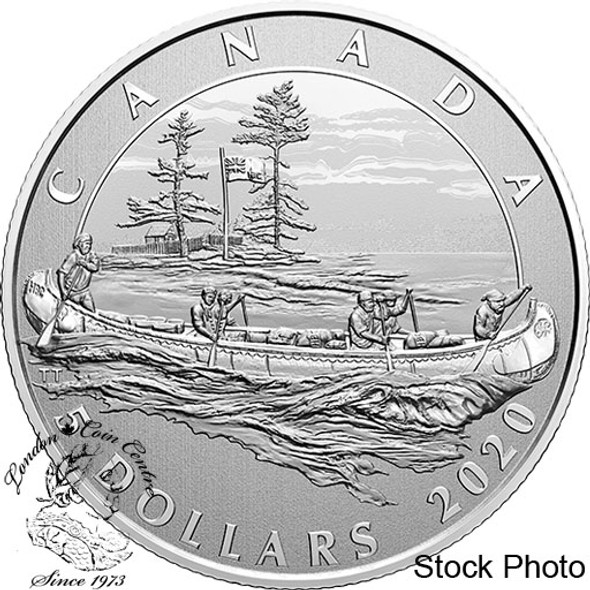 Canada: 2020 $5 Moments to Hold: Anniversary of Hudson's Bay Company Pure Silver Coin