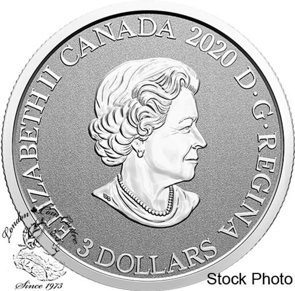 Canada: 2020 $3 Floral Emblems of Canada - Nova Scotia: Mayflower Fine Silver Coin