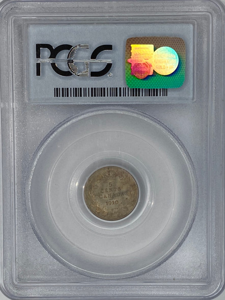 Canada: 1910 5 Cents Round Leaves PCGS MS63 Ex. Pittman Collection