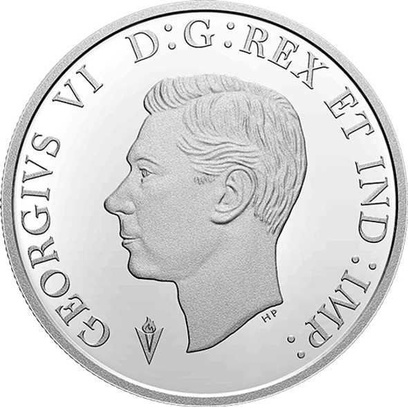 Canada: 2020 $1 75th Anniversary of V-E: The Royal Canadian Navy Proof Coloured Pure Silver Coin