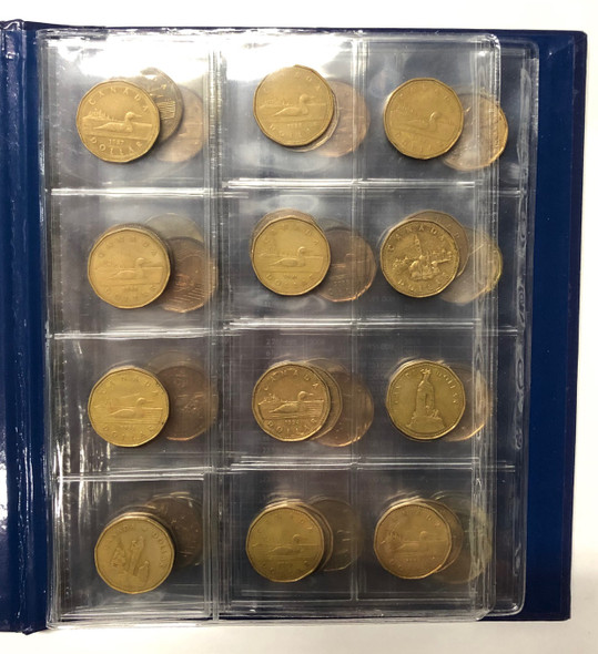 Canada: 1987 - 2020 Collection of Loonies in Vista Book (46 Pieces)