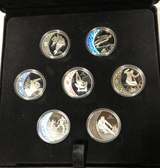 Canada: 2007 2008 2009 $25 Olympic Athlete's Pride 15 Silver Coin Set