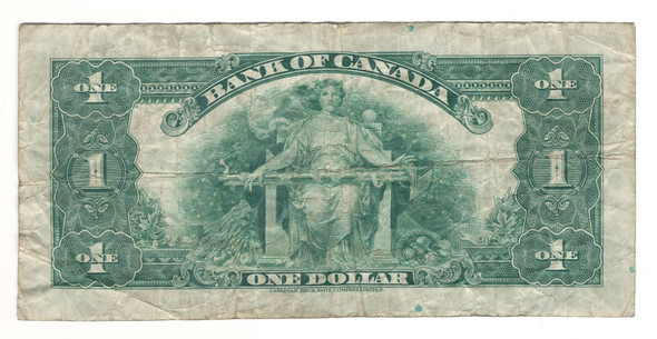 Canada: 1935 $1 Banknote - Bank of Canada English BC-1a Lot#9