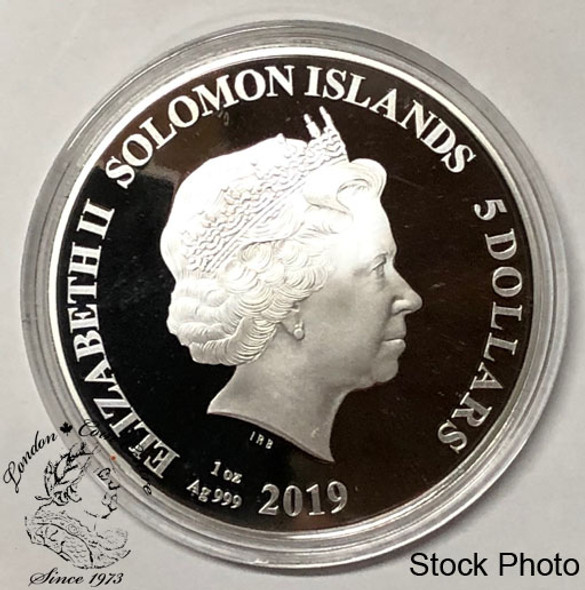Solomon Islands: 2019 $5 Legends of Music: Mick Jagger 1 oz. Pure Silver Coloured Coin