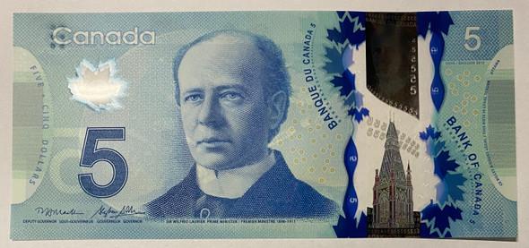 Canada: 2013 $5 Bank Of Canada Banknote Macklem-Poloz BC-69b