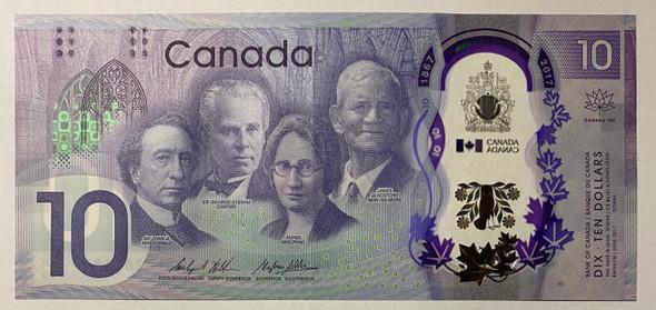 Canada: 2017 $10 Bank Of Canada 150th Anniversary Banknote