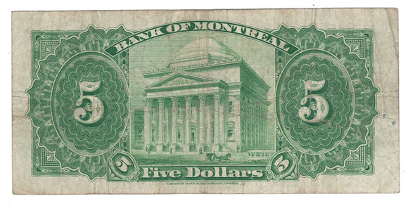 Canada: 1935 $5 Banknote - Bank of Montreal 234973