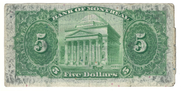 Canada: 1935 $5 Banknote - Bank of Montreal 598245
