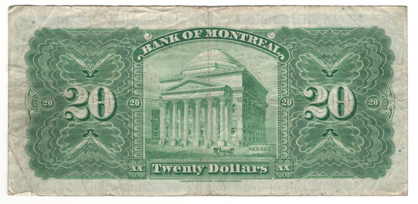 Canada: 1923 $20 Banknote - Bank of Montreal 633547
