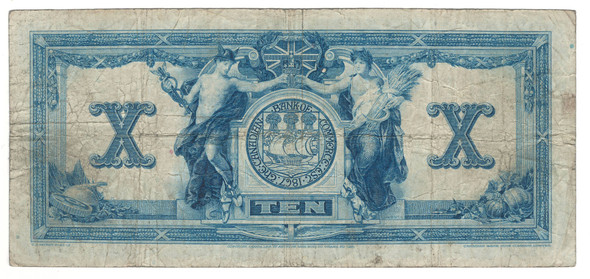 Canada: 1917 $10 Banknote - The Canadian Bank of Commerce A982769