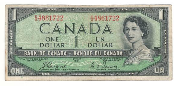 Canada: 1954 $1 Bank Of Canada Devil's Face Banknote E/A Lot#2