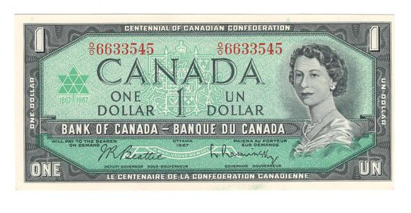 Canada: 1967 $1 Banknote Bank of Canada O/O