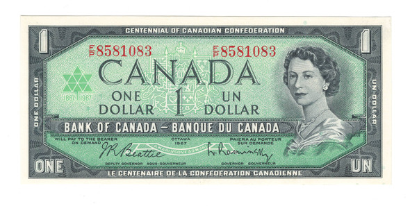 Canada: 1967 $1 Banknote Bank of Canada F/P Lot#2