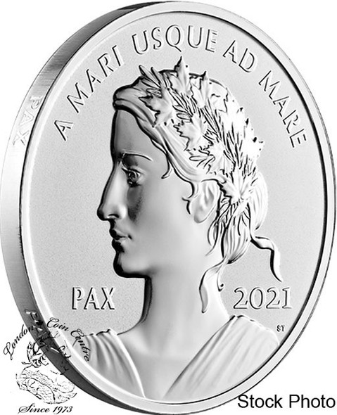 Canada: 2021 $1 Peace Dollar Pure Silver Coin