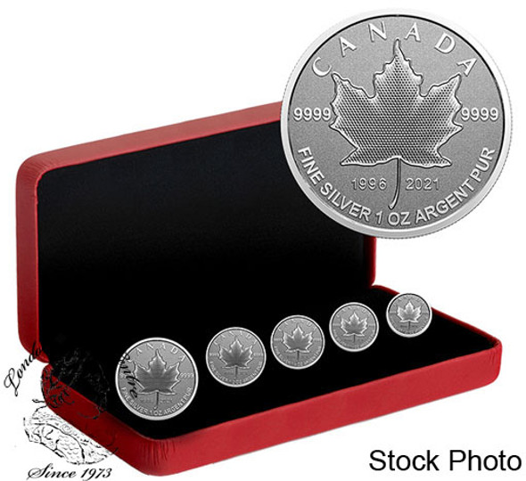 Canada: 2021 5-Coin Our Arboreal Emblem: The Maple Tree Pure Silver Fractional Set