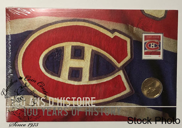 Canada: 2009 Montreal Canadiens NHL 100th Anniversary Coin and Stamp Set