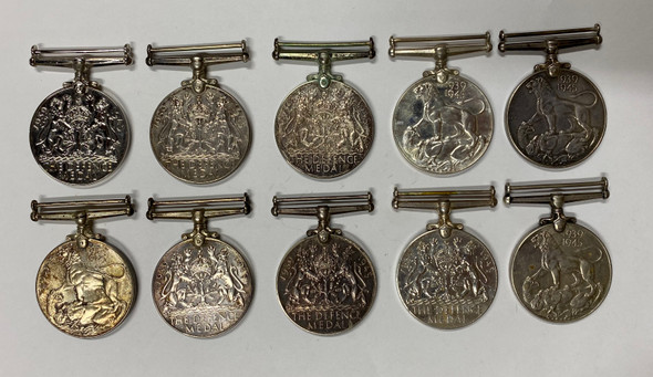 Canada WWII Medal Lot. Silver. (10 Pieces)