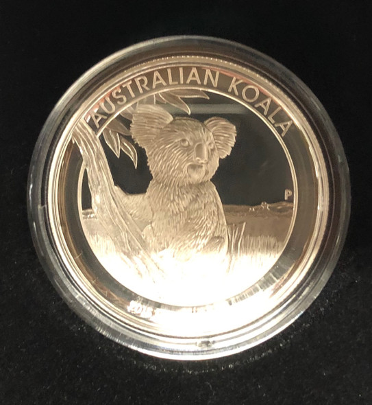 Australia: 2015 $1 Koala 1 oz. Proof High Relief Pure Silver Coin