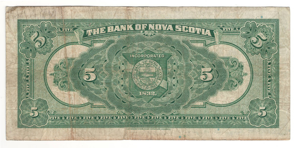 Canada: 1929 $5 Banknote - The Bank of Nova Scotia 2053584