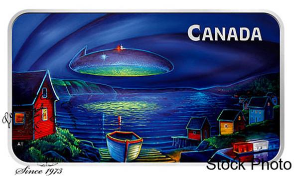 Canada: 2020 $20 Canada's Unexplained Phenomenon: Clarenville Incident 1 oz Pure Silver Glow-in-the-dark Coin