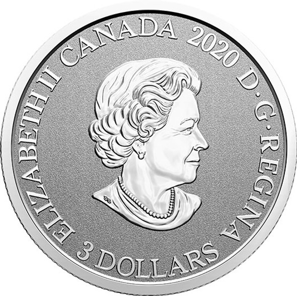 Canada: 2021 $3 Floral Emblems of Canada - Alberta: Wild Rose Fine Silver Coin