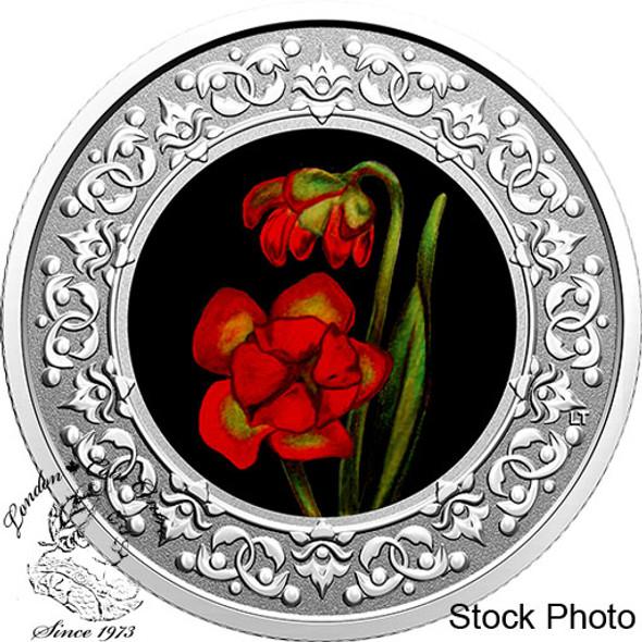 Canada: 2021 $3 Floral Emblems of Canada - Newfoundland and Labrador: Pitcher Plant Fine Silver Coin