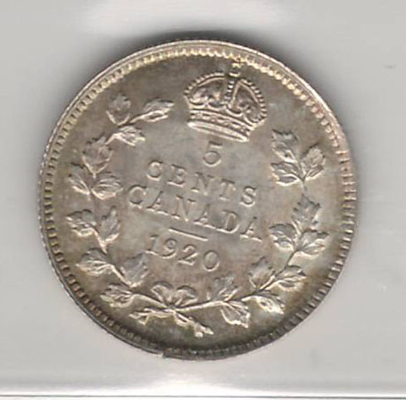 Canada: 1920 5 Cents ICCS MS64