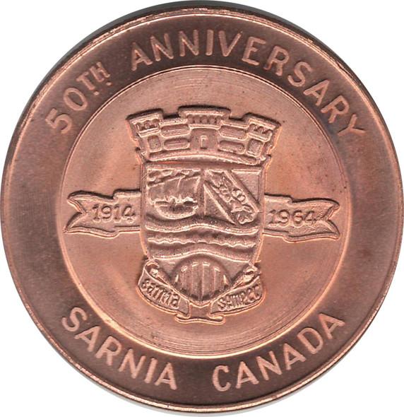 1960 50 Anniversary of Sarnia Medal - Sarnia Numismatic Society
