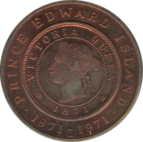 1871 to 1971 Prince Edward Island Medal