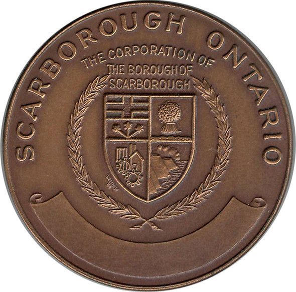 1867 1967 Canadian Centennial Medal Scarborough