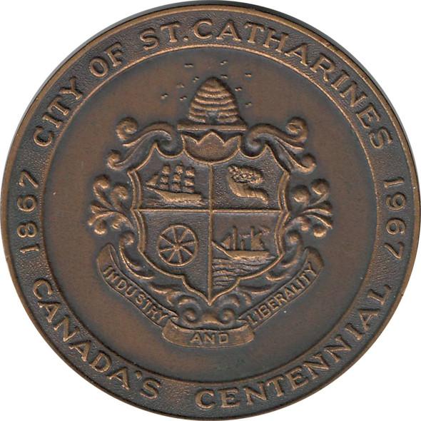 1867 1967 Canadian Centennial Medal St. Catharines Gateway to Niagara