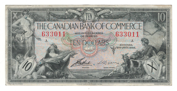 Canada: 1935 $10 Banknote - The Canadian Bank of Commerce 633110