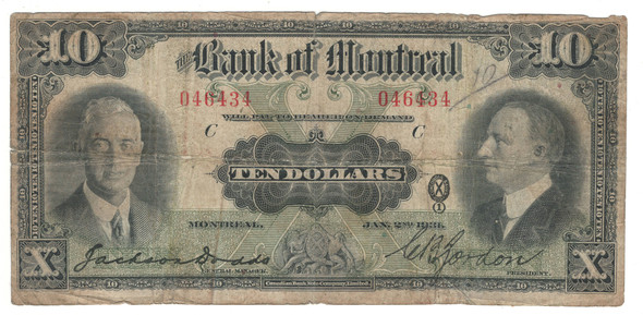 Canada: 1931 $10 Banknote - Bank of Montreal 046434