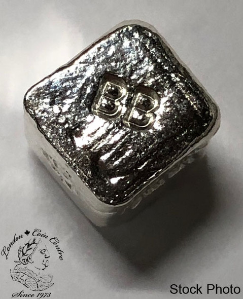 1 oz Pure Silver Cube by Beaver Bullion