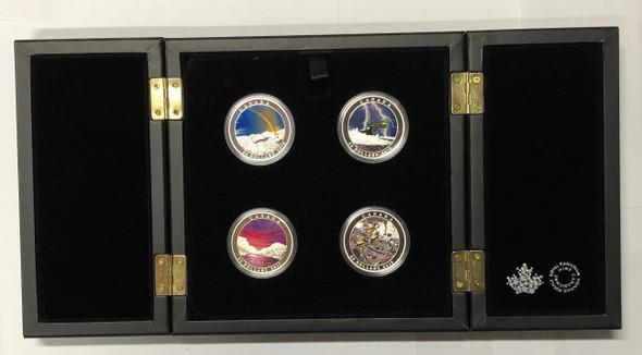 Canada: 2015 - 2017 $20 Weather Phenomenon 4 Silver Coin Set