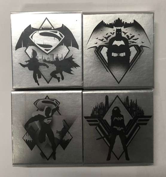 Canada: 2016 $10 Batman vs Superman: Dawn of Justice 4 Silver Coin Set