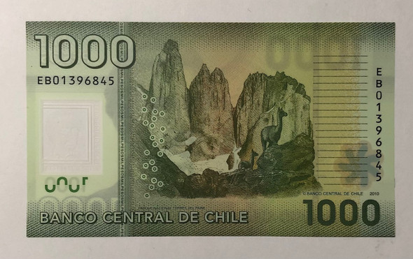 Chile: 2011 1000 Pesos Banknote P. 161
