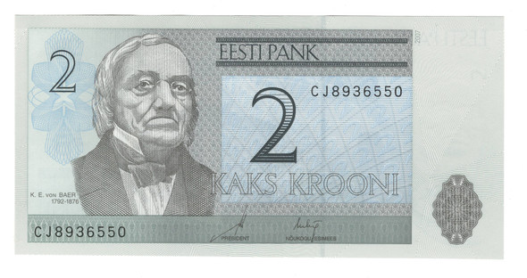 Estonia: 2007 2 Krooni Banknote P. 85b