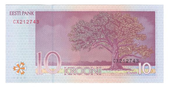 Estonia: 2007 10 Krooni Banknote P. 86b