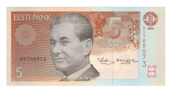 Estonia: 1994 5 Krooni Banknote P. 76