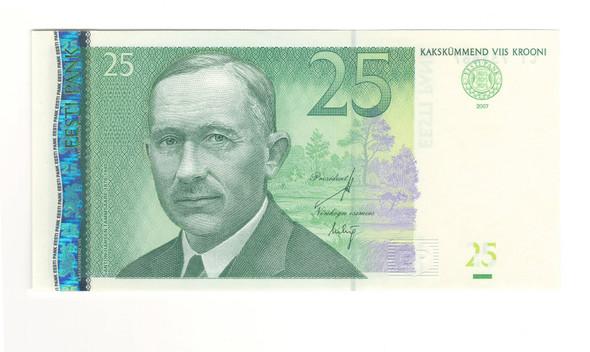 Estonia: 2007 25 Krooni Banknote P. 87b