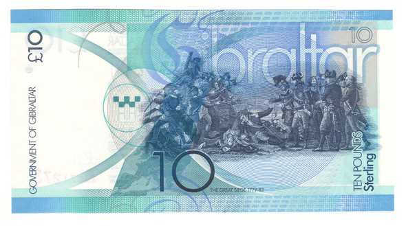Gibraltar: 2010 10 Pounds Banknote P. 36