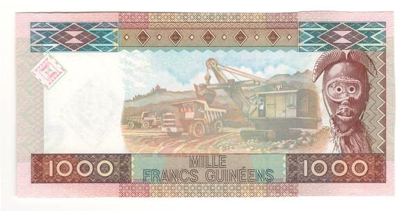 Guinea: 2010 1000 Francs Banknote P. 43