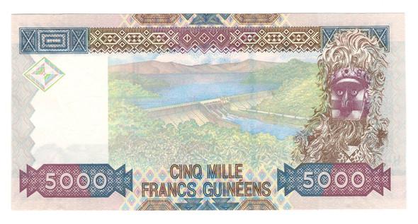 Guinea: 2006 5000 Francs Banknote P. 41a
