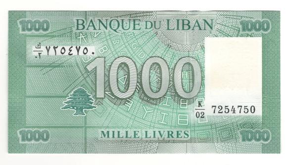 Lebanon: 2011 1000 Livres Banknote P. 90
