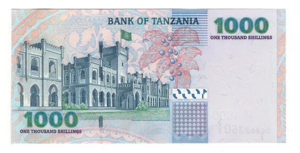 Tanzania: 2003 1000 Shillings Banknote P. 36a